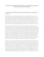 MỘT SỐ GIẢI PHÁP HOÀN THIỆN PHÁP LUẬT BỒI THƯỜNG THIỆT HẠI TRONG LĨNH VỰC SỞ HỮU TRÍ TUỆ