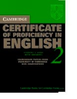 CAMBRIDGE CERTIFICATE OF PROFICIENCY IN ENGLISH 2