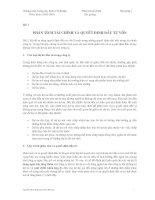 Kinh tế fulbright PHÂN TÍCH tài CHÍNH bài giảng 7