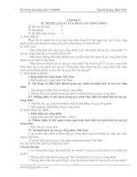 Chương II. Sứ mệnh lịch sử của giai cấp công nhân