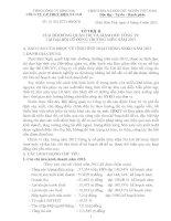 TỜ TRÌNH CỦA HỘI ĐỒNG QUẢN TRỊ VÀ GIÁM ĐỐC CÔNG TY TẠI ĐẠI HỘI CỔ ĐÔNG THƯỜNG NIÊN NĂM 2013