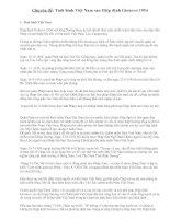 Ôn ĐH-Tình hình Việt Nam sau Hiệp định Giơnevơ 1954