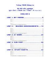 Đề thi học kỳ I Anh Văn 8