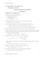 BÀI TẬP TIN HỌC ĐẠI CƯƠNG ( Lập trình C )