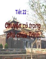 Chuyện cũ trong phủ chúa Trịnh