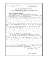 Kế hoạch Công doàn tháng 9/2008