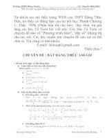 Chuyên đề: Bất đẳng thức AM-GM (HSG)