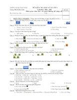 Đề - Đáp án thi học kỳ 2 tin học 6