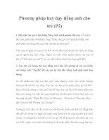 Phương pháp hay dạy tiếng anh cho trẻ (p2)