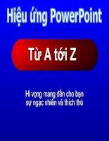 Kĩ thuật tạo hiệu ứng trong Power Point