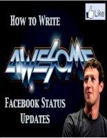 Cách viết status trên facebook để được nhiều like