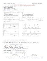 Tóm tắt kiến thức và phương pháp giải toán 12