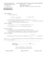 Đề thi thử Tốt nghiệp (có đáp án)