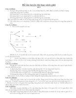 Đề ôn luyện học sinh giỏi Hóa 9 (2 đề + HDC)