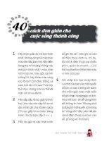40 cách thành công trong cuộc sống