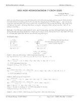 Bài hidrocacbon 7 cách giải
