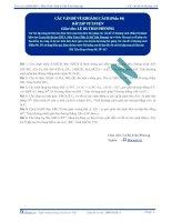 Bài tập tự luyện các vấn đề về khoảng cách p4