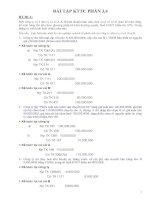 Bài tập kế toán tài chính phần 3 & 4