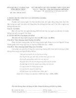 ĐỀ THI DIỄN TẬP TỐT NGHIỆP THPT NĂM 2013 Môn Ngữ văn – Giáo dục trung học phổ thông