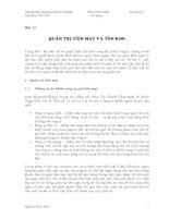Kinh tế fulbright PHÂN TÍCH tài CHÍNH bài giảng 11