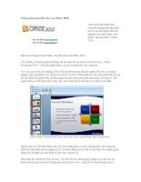 Những hình ảnh đầu tiên của Office 2010