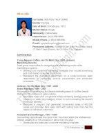 CV tieng anh (tham khao)