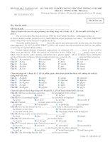 KỲ THI TỐT NGHIỆP TRUNG HỌC PHỔ THÔNG NĂM 2007 Môn thi: TIẾNG ANH - Phân ban - Mã đề thi 147