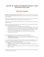 BẢO MẬT HỆ THỐNG VỚI WINDOWS FIREWALL TRONG WINDOWS SERVER 2008