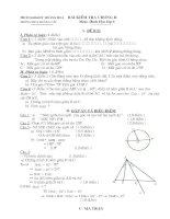 Bài kiểm tra hình lớp 6 chương II