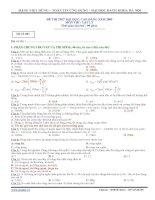 ĐỀ THI THỬ ĐẠI HỌC NĂM 2009 - ĐỀ 003
