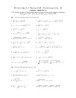 Đề luyện thi đại học phương trình   bất phương trình   hệ phương trình đại số
