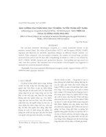 ảnh h-ởng của phân sinh học tới bệnh tuyến trùng nốt s-ng (Meloidogyne incognita Kofoid et White, 1919/Chitwood, 1949) trên cà chua vụ đông xuân 2002-2003