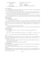 ĐỀ THI THỬ KỲ THI HỌC SINH GIỎI LỚP 9 CẤP TỈNH MÔN SINH HỌC - SỞ GIÁO DỤC VÀ ĐÀO TẠO LONG AN