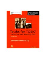 Tactics for TOEIC Tape Tapescripts and Answer Key