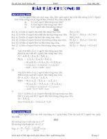Bài tập và bải giải môn xác xuất thống kê