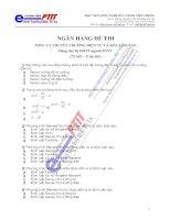 Ngân hàng đề thi môn lý  thuyết trường điện từ và siêu cao tần
