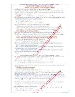 Giải chi tiết đề Đại học 2009 - Vật lý