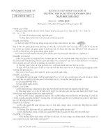ĐỀ THI TUYẾN SINH VÀO LỚP 10 TRƯỜNG THPT CHUYÊN PHAN BỘI CHÂU NĂM HỌC 2011-2012 MÔN SINH HỌC