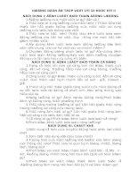 Đề cương ôn tập Vật lí 10 học kỳ II