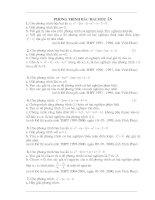 Ôn thi vào 10 ( các bài toán về phương rình bậc 2 một ẩn)