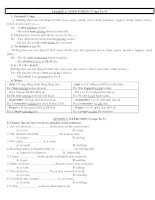 Bài tập ngữ pháp 10 NC and CB