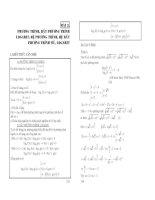 Phuơng trình, bất phuơng trình logarit, hệ phương trình, hệ bất phương trình mũ, logarit