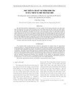 Phát triển và liên kết thị tr-ờng nông sản: cơ sở lý thuyết và thực tiễn ở Việt Nam