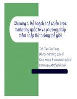 Kế hoạch hoá chiến lược marketing quốc tế và phương pháp thâm nhập thị trường thế giới