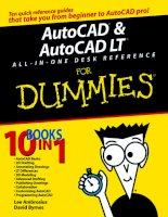 AutoCAD and AutoCAD LT AIO desk reference   for dummies