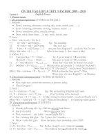 Đề cương ôn thi lớp 10-2