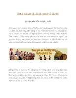 KHÔNG GIAN văn hóa CỒNG CHIÊNG tây NGUYÊN (DI sản văn hóa PHI vật THỂ)