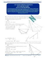 Đáp án bài tập tự luyện Các vấn đề về khoảng cách p4