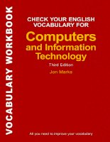 Check your english vocabulary for computing