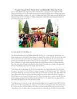 Truyền thuyết Đức thánh Chử và lễ hội Đền Hóa Dạ Trạch
